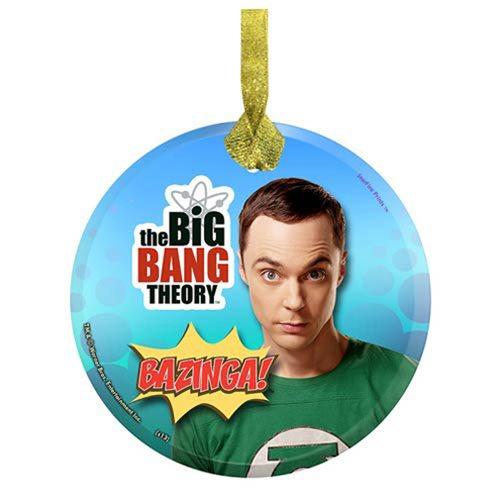 Big Bang Theory Bazinga! StarFire Prints Hanging Glass Print