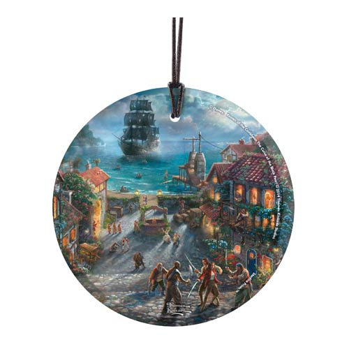 Pirates of the Caribbean by Thomas Kinkade StarFire Prints Hanging Glass Print