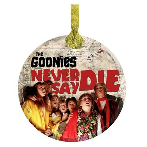 The Goonies Never Say Die StarFire Hanging Glass Print