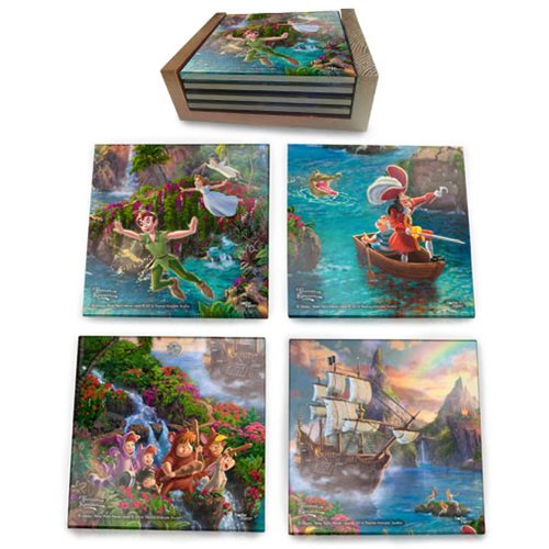 Peter Pan Neverland StarFire Prints Glass Coaster Set