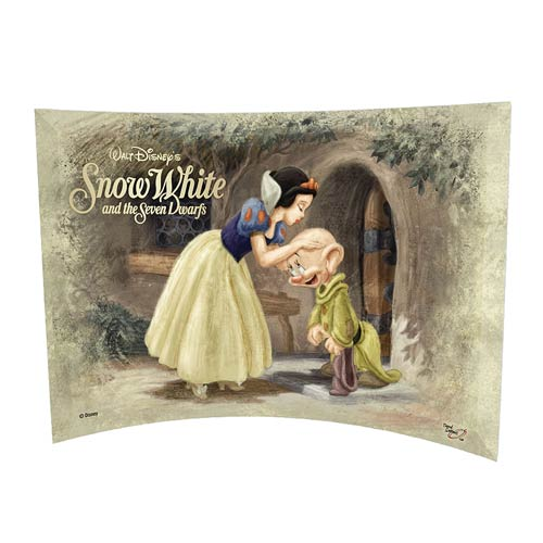Snow White Dopey Kiss Curved Glass StarFire Print
