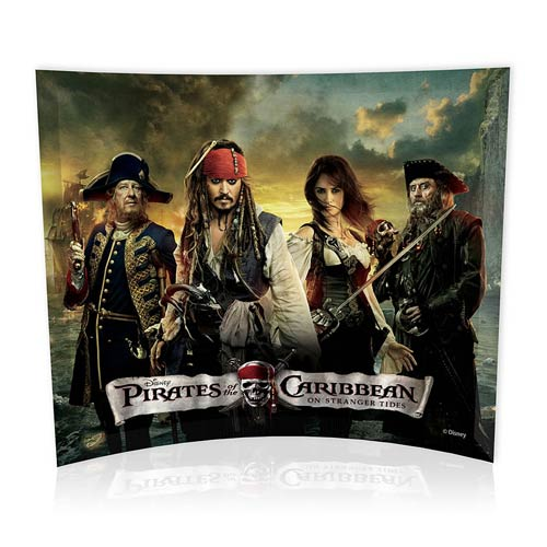 Pirates of the Caribbean On Stranger Tides Group Glass Photo