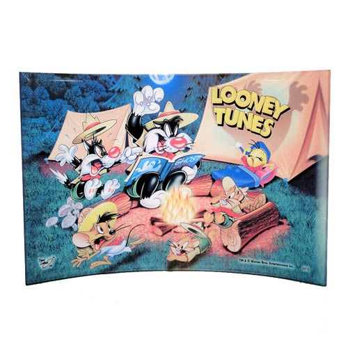 Looney Tunes Campfire Curved Glass StarFire Print
