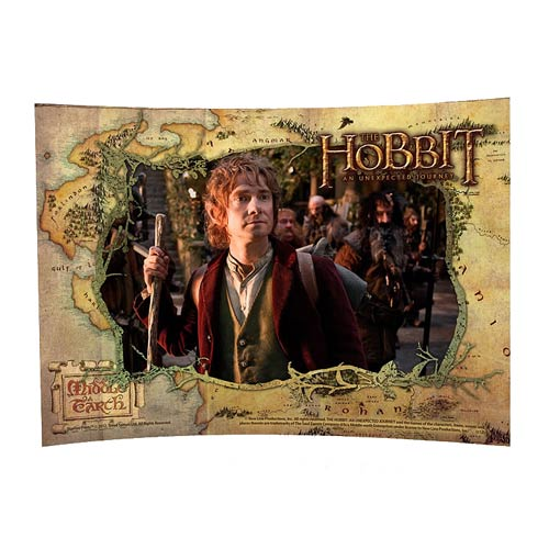 Hobbit Unexpected Journey Bilbo Curved Glass StarFire Print