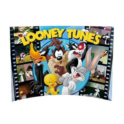 Looney Tunes All Tunes Curved Glass StarFire Print