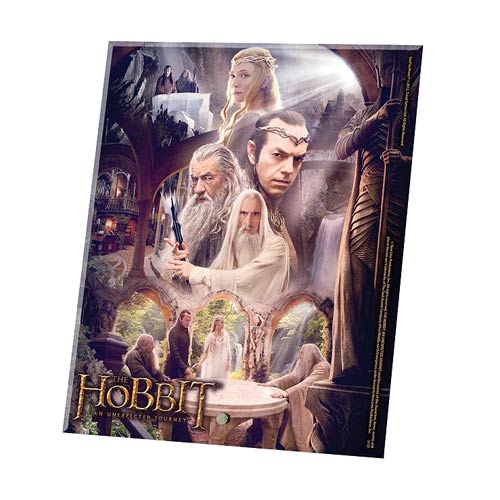 Hobbit An Unexpected Journey White Council Glass Print