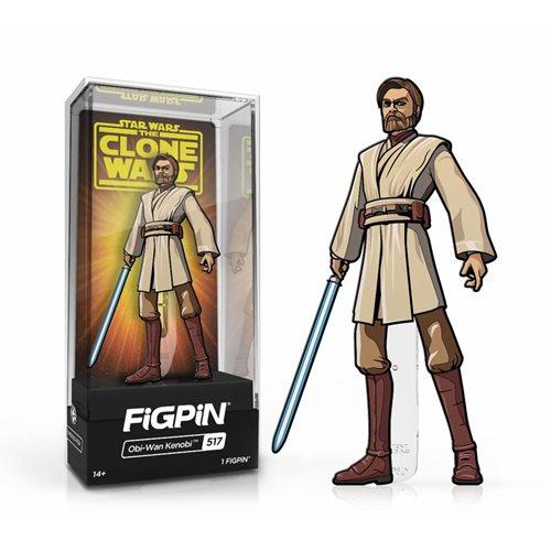 Star Wars Clone Wars Obi-Wan Kenobi FiGPiN Classic Pin
