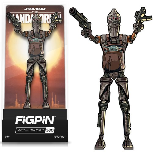 Star Wars: Mandalorian IG-11 with Child FiGPiN Classic Pin