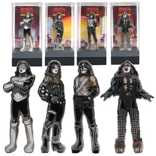 'KISS Love Gun FiGPiN Enamel Pins Set' from the web at 'https://www.entertainmentearth.com/images/AUTOIMAGES/FG155AAlg.jpg'