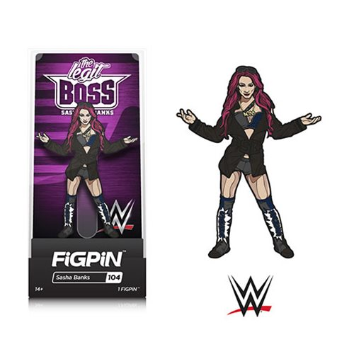 WWE Superstars Sasha Banks FiGPiN Enamel Pin