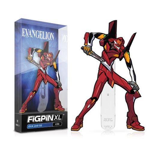 Neon Genesis Evangelion EVA Unit 02 FiGPiN XL Enamel Pin