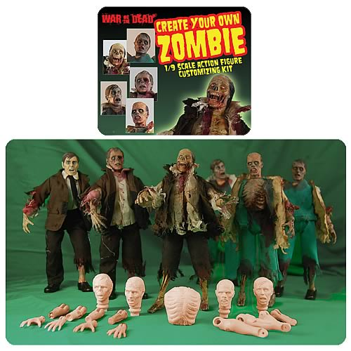 Create your own custom zombie action figure kit for Zombie build