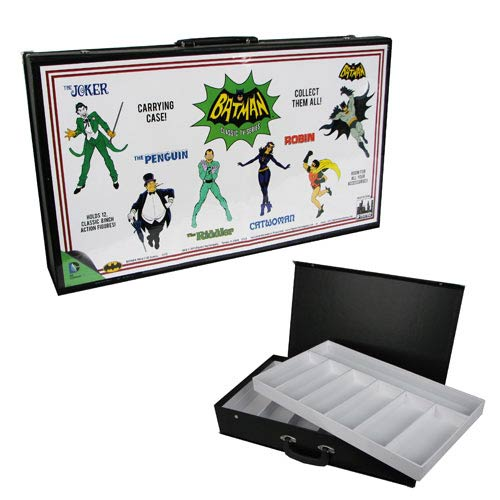 Batman Retro Comic Art White Action Figures Carry Case
