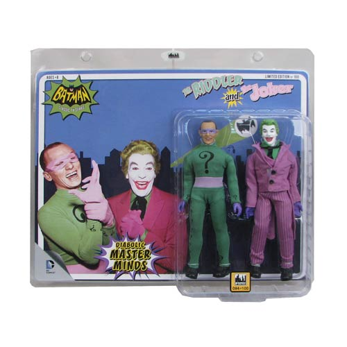 Batman 1966 TV Joker vs. Riddler 8-Inch Action Figure Set