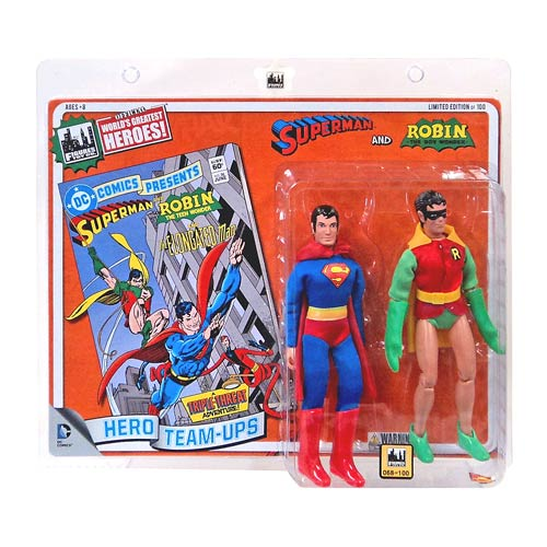 Superman and Robin 8-Inch Action Figure Set