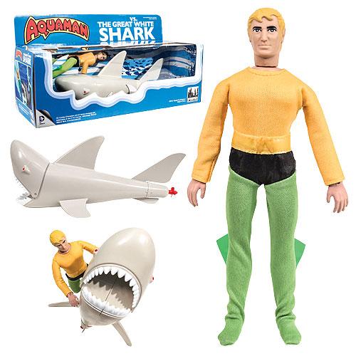 Aquaman vs. The Great White Shark Retro Action Figure Set