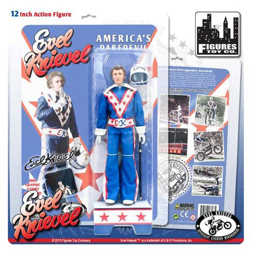 Evel Knievel in Blue Jumpsuit 12-Inch Action Figure