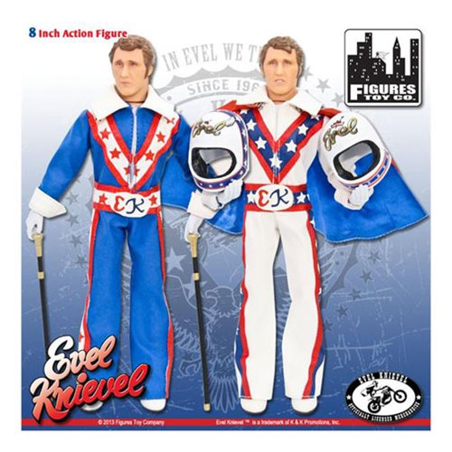Evel Knievel 8-Inch Action Figure Set