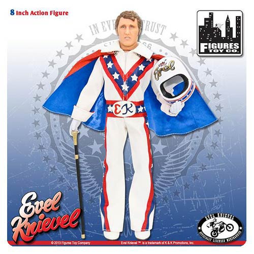 Evel Knievel in White Jumpsuit 8-Inch Action Figure