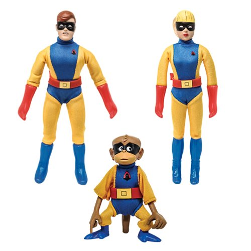 Hanna Barbera Space Ghost 8-Inch Jace, Jan, and Blip Figures