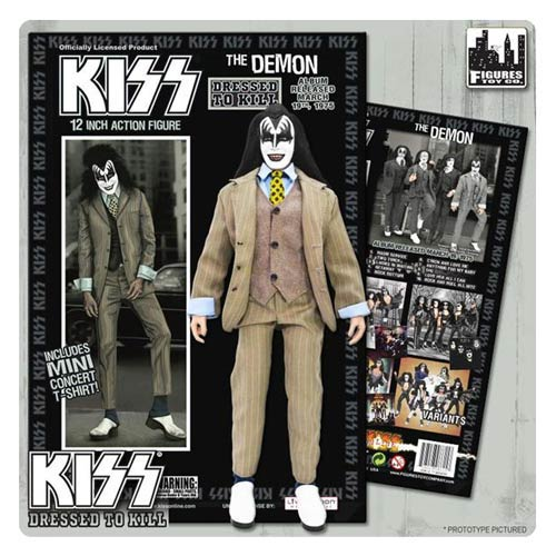KISS Demon Dressed To Kill Color Suit 12-Inch Action Figure