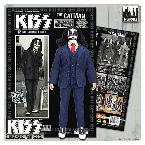 KISS Catman Dressed To Kill Color Suit 12-Inch Action Figure