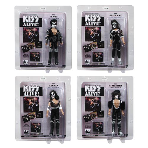 KISS Alive! 8-Inch Series 6 Action Figure Set