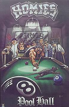 Homies Pool Hall Poster
