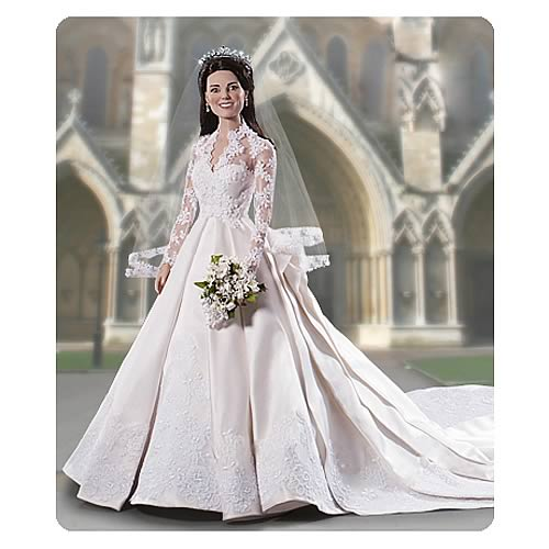 Kate Middleton Royal Wedding Vinyl Portrait Doll