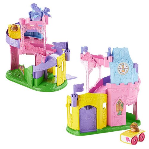 Disney Little People Twist and Light Wheelies Tower Playset