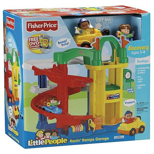 Little people racin 39 ramps garage fisher price little - Fisher price little people racin ramps garage ...