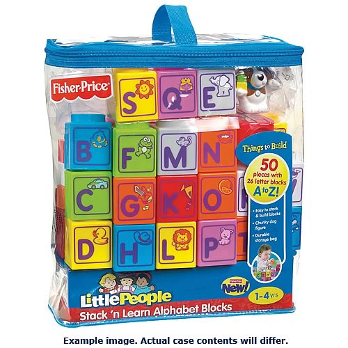 Little People Stack and Learn Alphabet Block Set