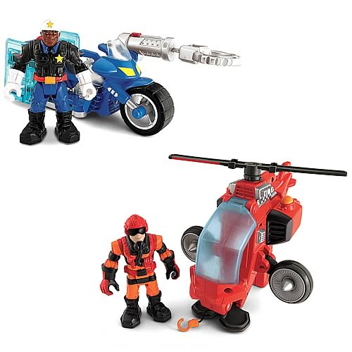 Hero World Rescue Heroes Figure and Vehicle Case