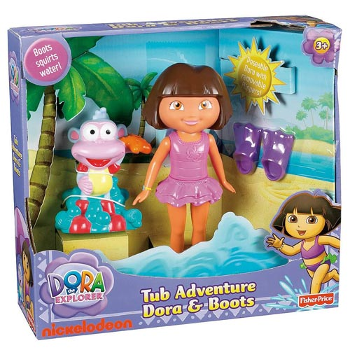 All Dora Toys : Dora the explorer tub adventure and boots fisher