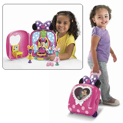 Disney Minnie Mouse Fashion On The Go Bowtique Playset