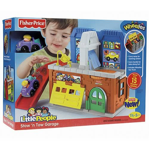 Little People Stow N Tow Garage Playset