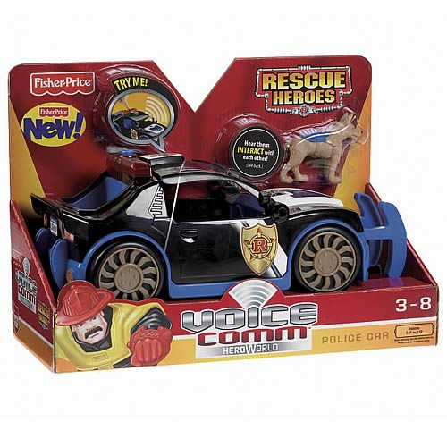 Hero World Rescue Heroes Voice Comm Police Car Vehicle