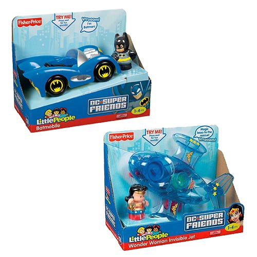 DC Super Friends Little People Large Vehicle Case