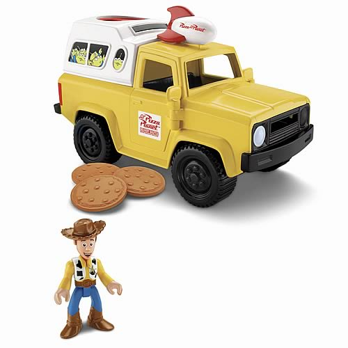 Toy Story Imaginext Pizza Planet Truck Vehicle with Woody
