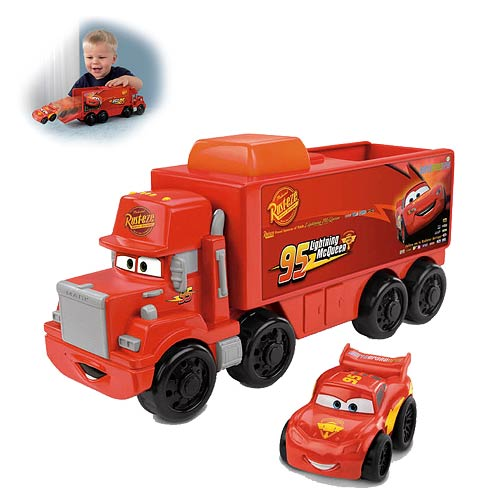 Cars Mack Hauler and McQueen Little People Vehicle Set
