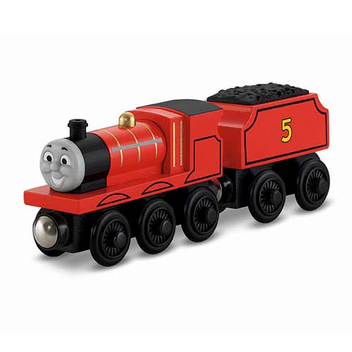 Thomas the Tank Engine James Wooden Railway Engine Vehicle