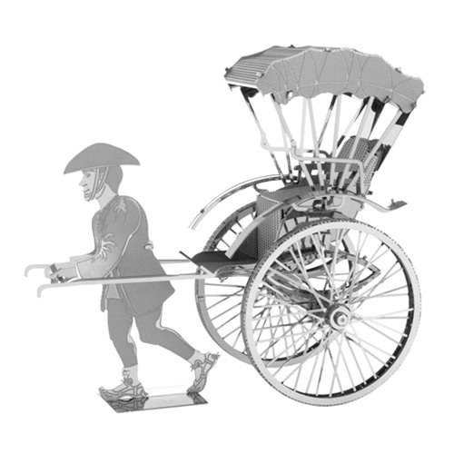 Japanese Rickshaw Metal Earth Model Kit