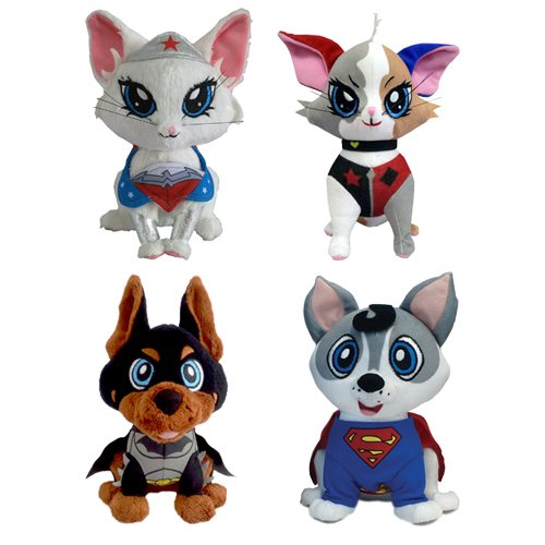 DC Comics Pawzplay Plush Wave 1 Set
