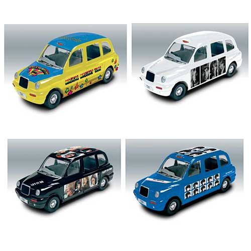 Beatles Die-Cast Taxi Famous Covers Case