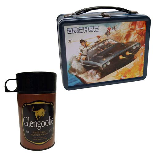 Archer Secret Agent Retro-Style Metal Lunch Box