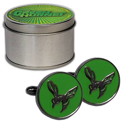 Green Hornet Cufflink Set with Tin