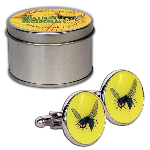 Green Hornet Cufflink Set with Tin