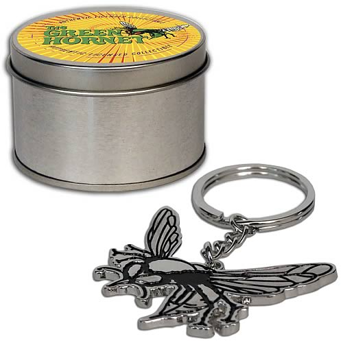 Green Hornet Logo Keychain with Tin