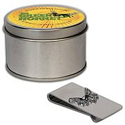 Green Hornet Money Clip with Yellow Tin