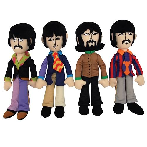 Beatles Yellow Submarine Fab Four Plush Set